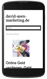 david-asen-marketing.de, Smartphone-Ansicht