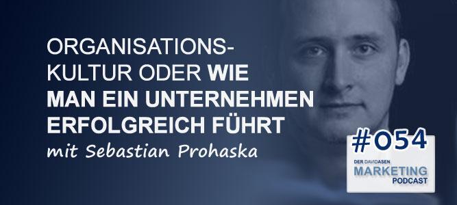 DAM 054: Organisationskultur oder wie man ein Unternehmen erfolgreich führt - mit Sebastian Prohaska