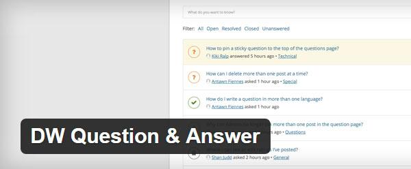 DW Questions & Answers WordPress Plugin